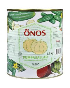 Pumpasallad, strimlad 3,1 kg (1,9kg avrunnen)