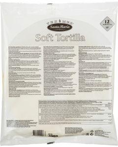 "Tortilla vete 12 st 25cm 10"" 750g - 4,5kg"